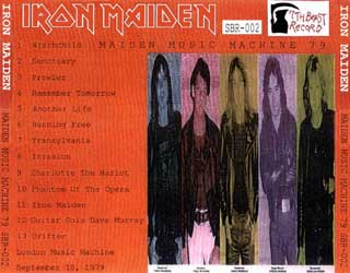 Back cover of Iron Maiden - Maiden Music Machine 79