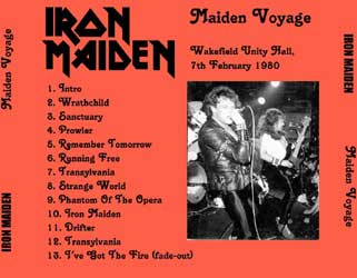 Back cover of Iron Maiden - Maiden Voyage