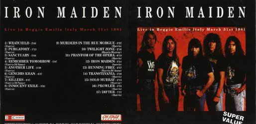Front cover of Iron Maiden - Reggio Emilia
