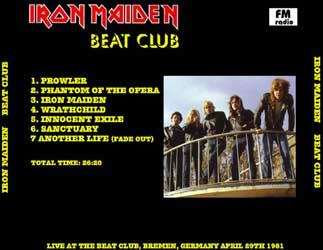 Back cover of Iron Maiden - Beat Club