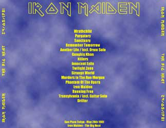 Back cover of Iron Maiden - The Big Heat