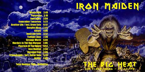 Front cover of Iron Maiden - The Big Heat