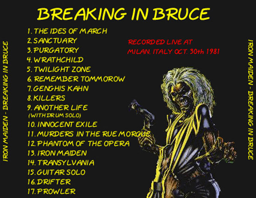 Iron Maiden Bootlegs - Breaking In Bruce