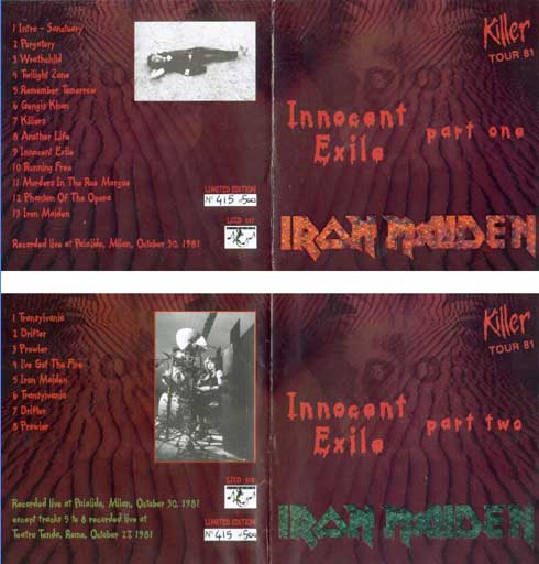 Front cover of Iron Maiden - Innocent Exile