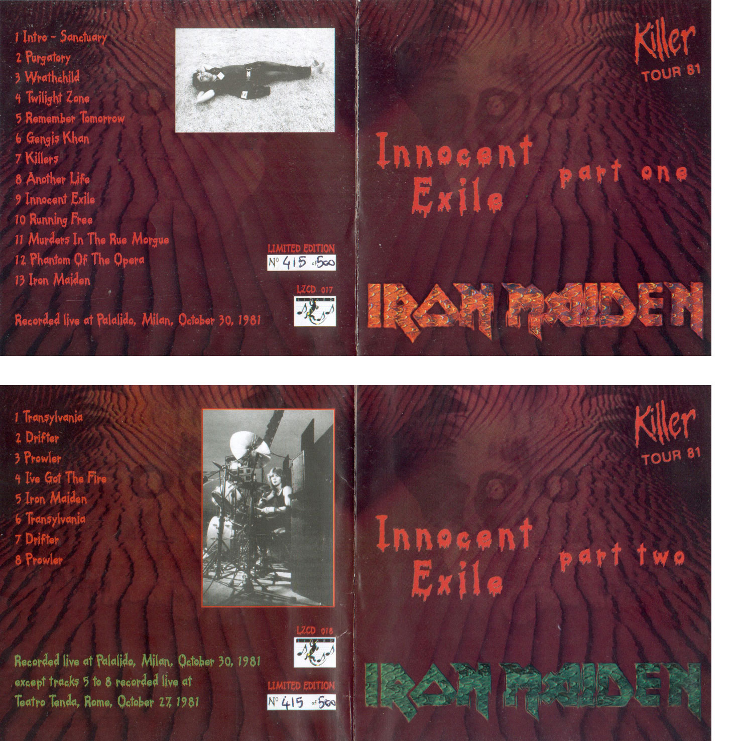 Iron Maiden Bootlegs - Innocent Exile