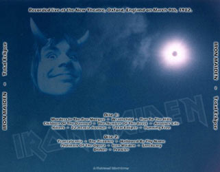 Back cover of Iron Maiden - Total Eclipse