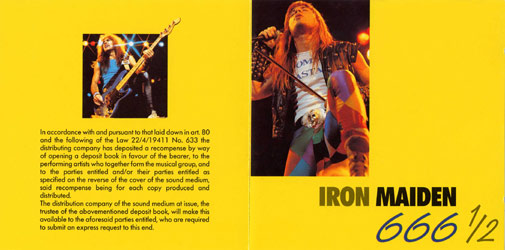 Front cover of Iron Maiden - 666 1/2