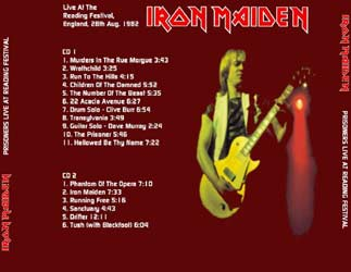 Back cover of Iron Maiden - Prisoners Live At Reading Festival