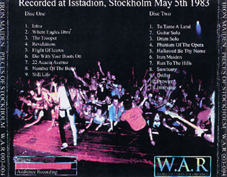 Back cover of Iron Maiden - Pieces Of Stockholm