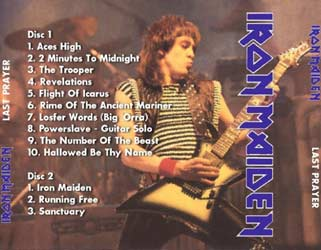 Back cover of Iron Maiden - Last Prayer