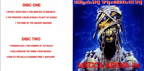 Front cover of Iron Maiden - Mecca Arena 84