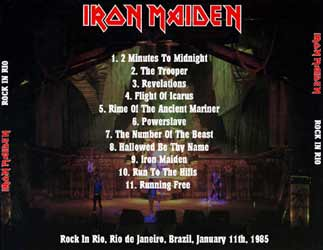 Back cover of Iron Maiden - Rock In Rio