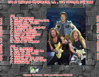 Back cover of Iron Maiden - Los Angeles 2000